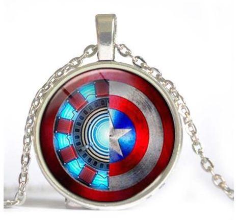 Iron Man Vs Captain America Civil War Pendant and Necklace