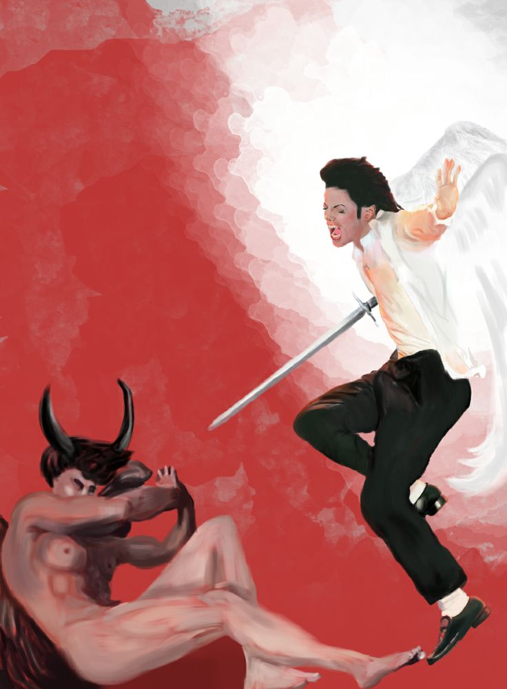 Archangel Michael vs Archangel Lucifer - Painting by composur3 on deviantART