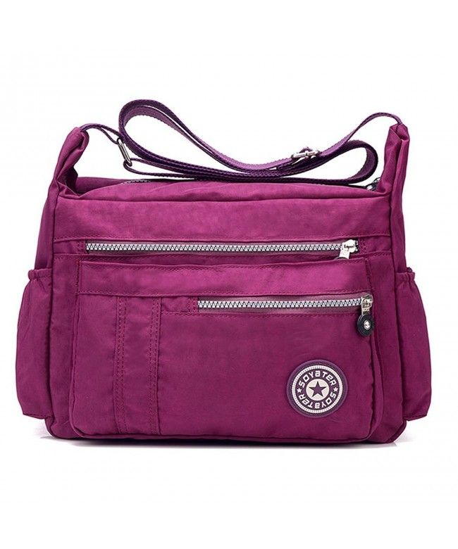 Waterproof Nylon Women s Shoulder Bag crossbody bags Ladies Messenger Bag  Casual Handbag - Purple - CV182GZH34C  Bags  Handbags  Crossbodybags  gifts   Style d0116c3f10a61
