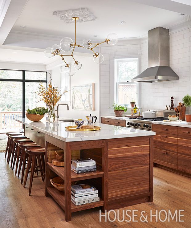 Sam Sacks masters the mix of modern finishes and vintage accessories in this kitchen. | Photographer: Donna Griffith Designer: Sam Sacks