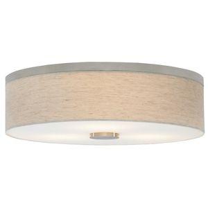 LBL Lighting LFM700LIBZ2D Fiona Flush Mount Ceiling Light - Bronze / Linen