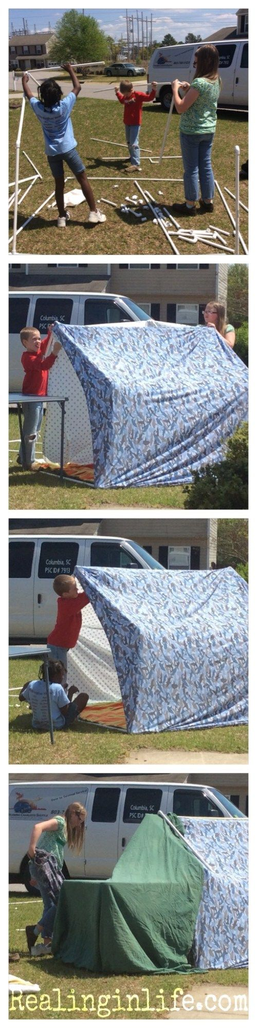 Summer Play: A Kid-designed PVC Tent