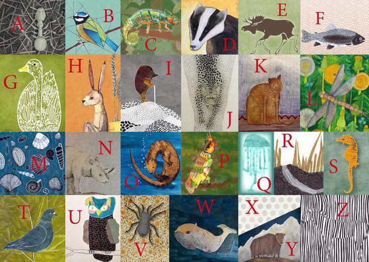 Digitaldruck - ABC der Tiere - ein Designerstück von jules-Abc bei DaWanda