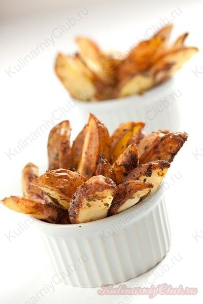 Запеченные пряные картофельные дольки on http://kulinarniyclub.ru