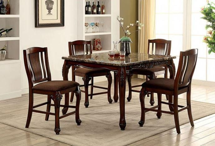Cm3873pt Johannesburg Dining Table Set In 2020 Counter Height Dining Table Set Counter Height Dining Table Square Dining Tables