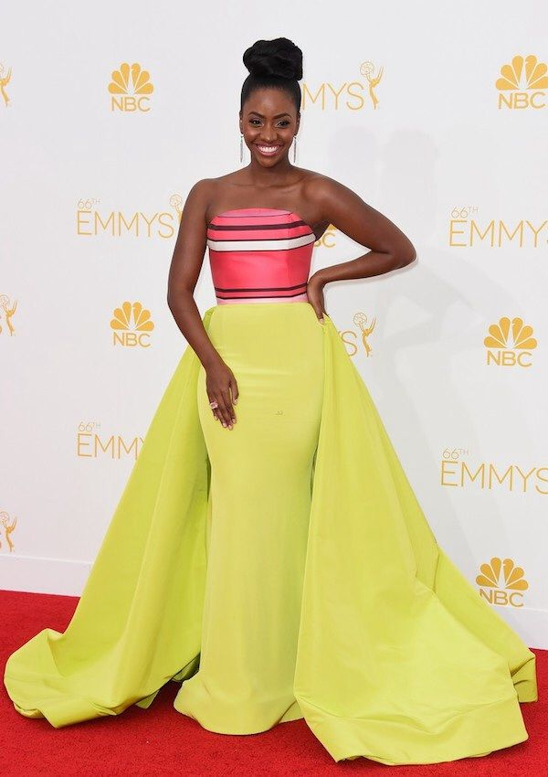 fashion, style, emmy, updo, updo hair, hairstyle, black actress, black girl