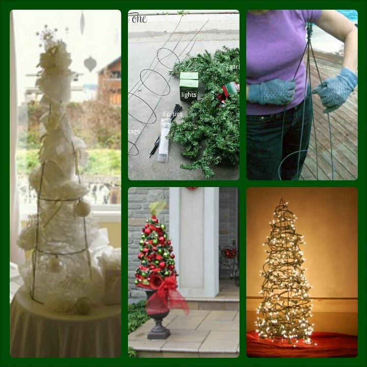 Christmas Trees Made From Tomato Cages: 60 Best Tomato Cage Trees Images On Pinterest