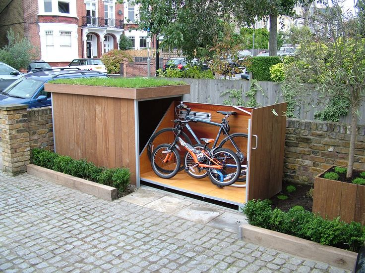sliding bike storage