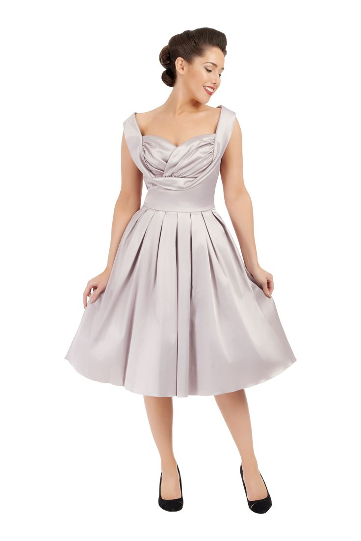 Dove Grey Hermione Dress Elsie's Attice £55