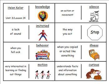 best helen keller images second grade helen journeys 2nd lesson 14 vocaulary dominoes for helen keller