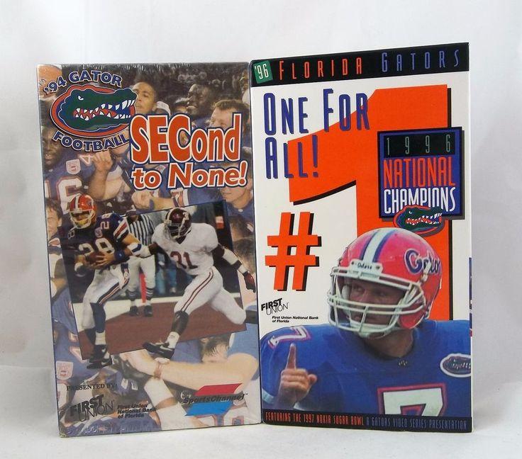 1994 Florida Gators SECond To None! & 1996 National Championship VHS Tapes #FloridaGators