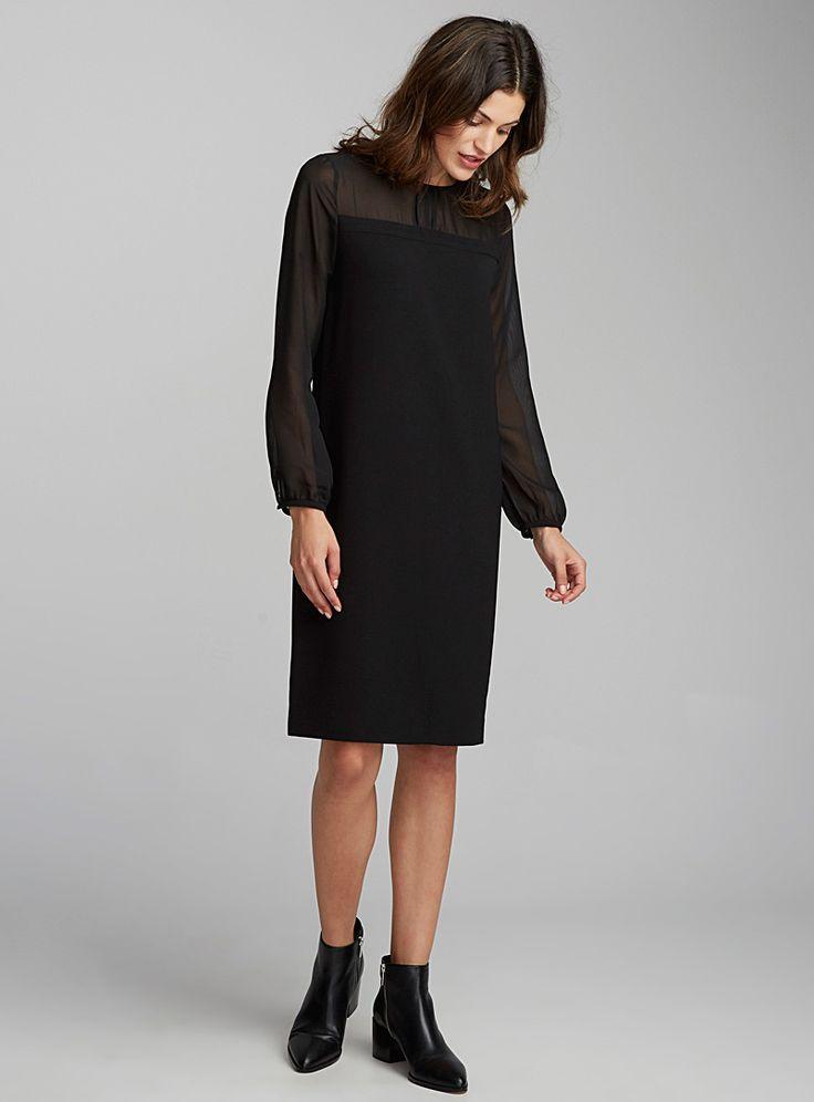 La robe épaules en transparence | Contemporaine | Magasinez des Robes de bureau | Simons