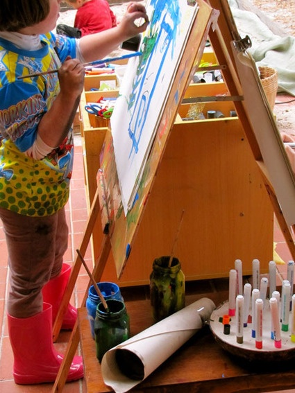 mixing it up at the easel - Irresistible Ideas for play based learning | Emergent Curriculum` | Scoop.it