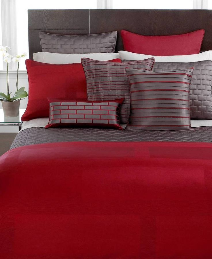 hotel collection frame lacquer full queen comforter cover duvet red 270