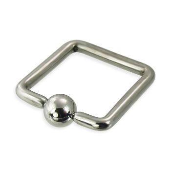 Square captive bead ring, 12 ga