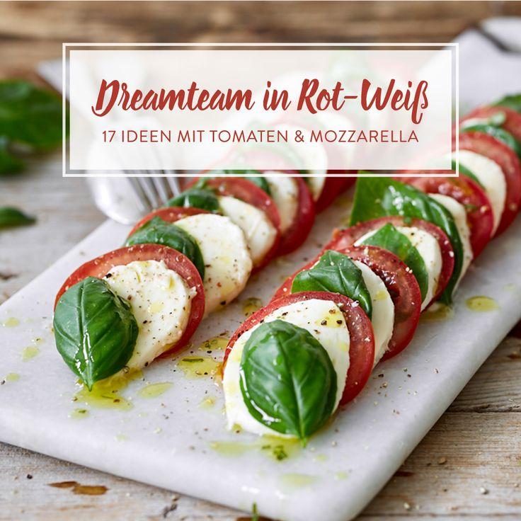 Eine kulinarische Liebeserklärung an leuchtend rote Tomaten und den milden, blassen Mozzarella: Von Insalata Caprese zu tomatigem Pull Apart Bread.