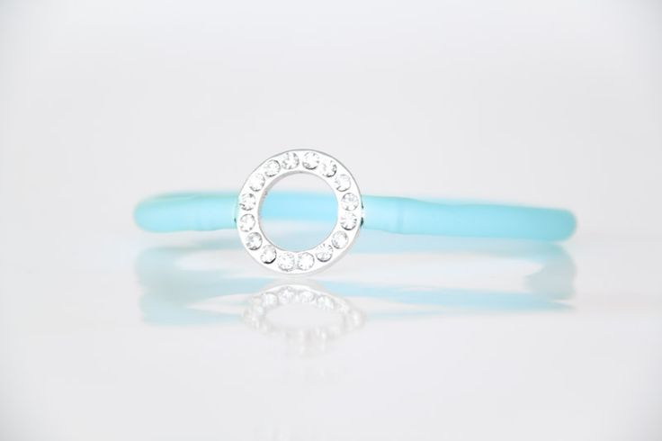 Diamante Circle Bracelet with Blue Tube Strap - Teelee - A Bits & Bobs Brand