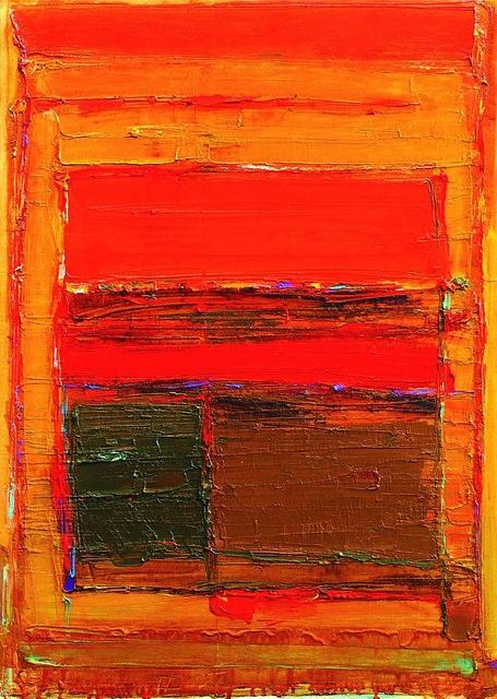Татьяна Дедова. In red.  Oil on canvas, 50x70cm.