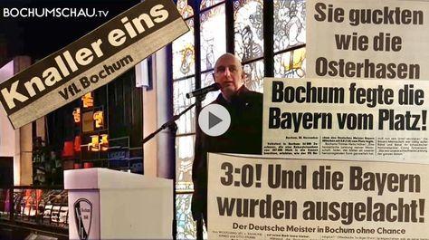 Es rauscht im Blätterwald. Zum DFB-Pokal-Viertelfinale: VfL Bochum - FC Bayern München blickt Frank Goosen voraus und zurück.