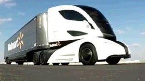Walmart's Concept #Hybrid Truck Would Make a More Efficient Fleet #peterbilt #automotive #heavytruck