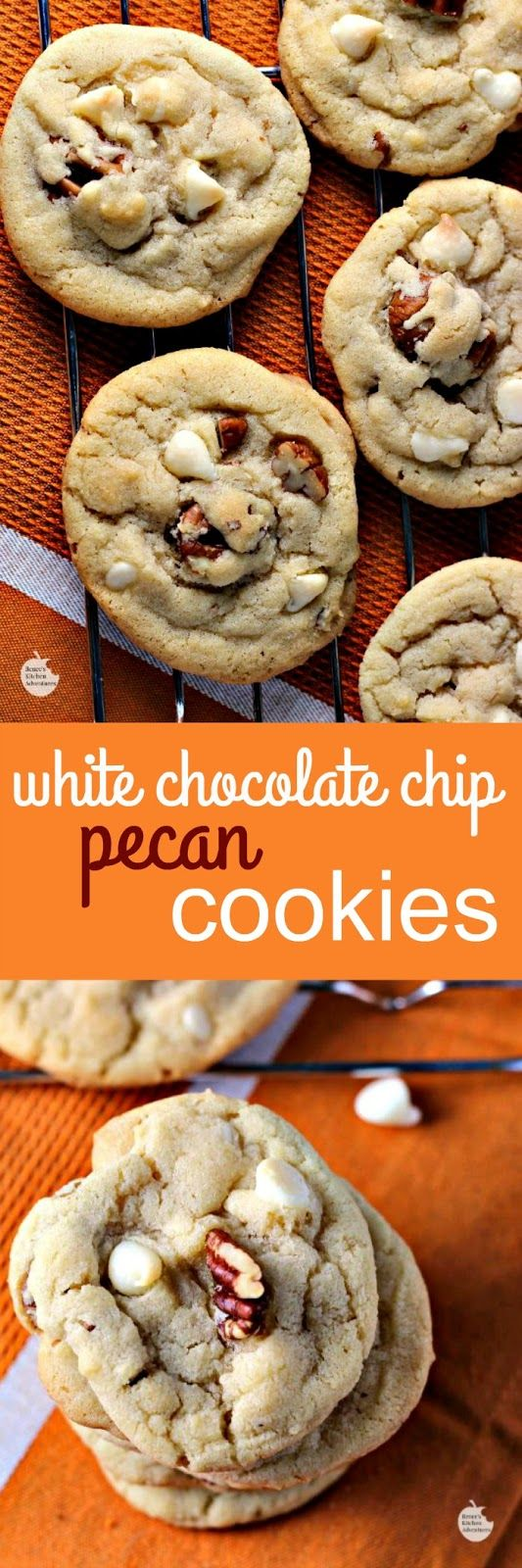 White Chocolate Chip Pecan Cookies   by Renee's Kitchen Adventures - Yummy buttery drop cookies that need to be in your cookie jar today!