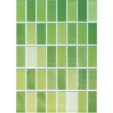 Konradssons kakel Vento Lima grön mosaik, 2,5x6,2cm