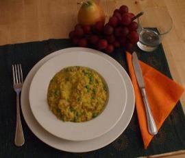 Ricetta Risotto con salsiccia, piselli e zafferano bimby