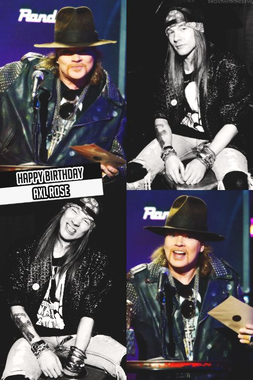 Axl Rose of Guns N' Roses, Now (2014) and then (late '80s)