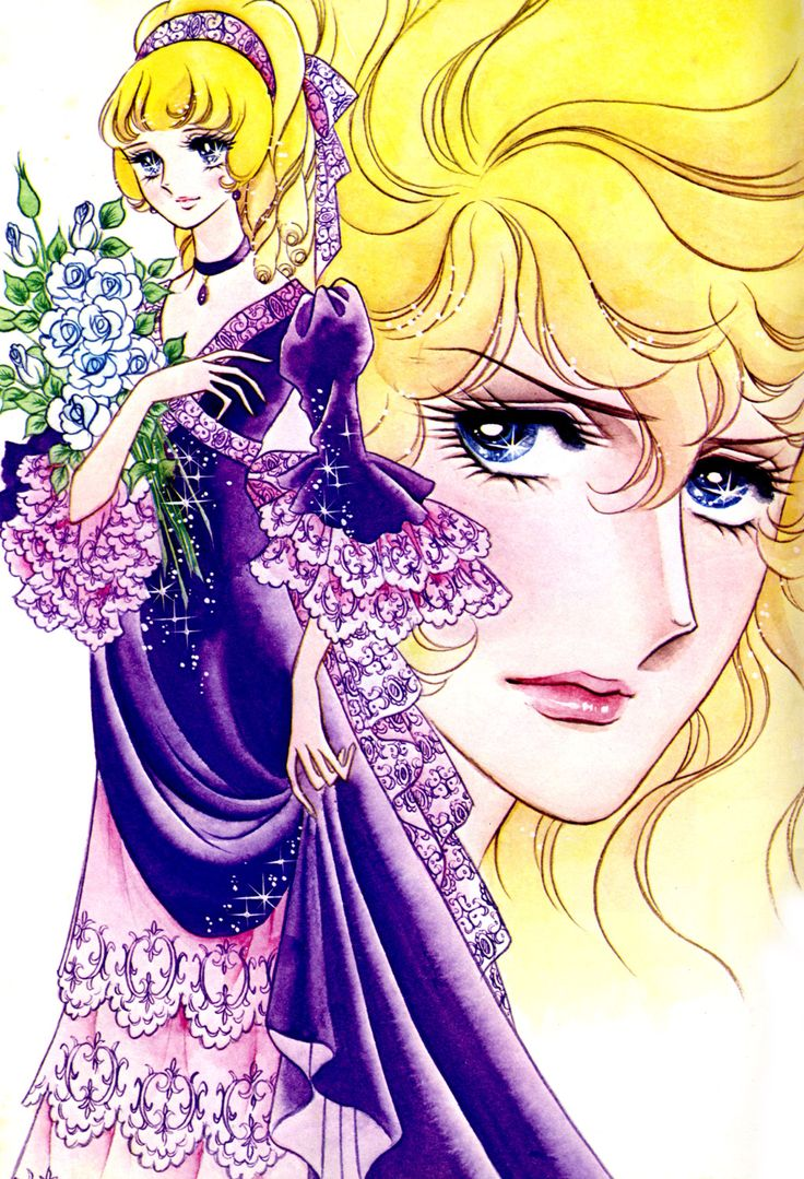 "Rosalie Lamorlière of ""Rose of Versailles"". . Original art work by Ms. Ikeda Riyoko."