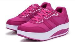 Ladies Sports Wedge Shoes, Comfortable Printed Sports Shoes