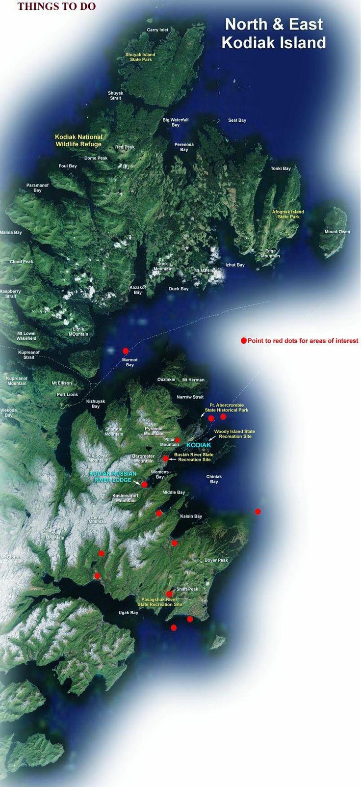 Alaska Major Cities Map%0A Kodiak  Alaska    Trust me  where we lived it didn u    t
