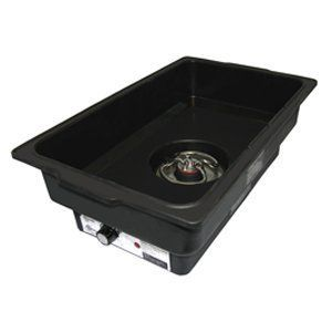 Update International ECFR-WP4 Electric Water Pan, 6-Inch by Update International. $54.84. Power consumption is 450 watts. Feature built-in feet and is thermostatically controlled. Fits for full-size chafer stands. Allows to control the amount of steam surrounding your food, keeping ingredients in prime condition. Electric water pan is are essential when working with foods, such as vegetables, that are likely to dry out. This electric water pan is are essential when working with f...