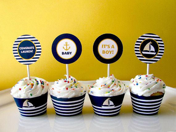 Nautical printable party  Baby Shower  Sail Boat  by EllisonReed, $12.00