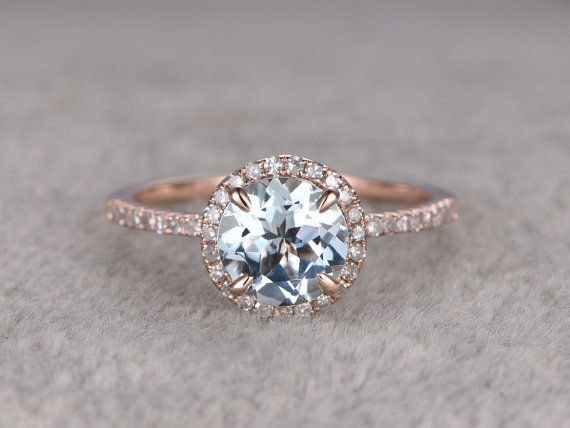 Light Blue Engagement Ring - Non Diamond Engagement Rings - Engagement Rings Without Diamonds ...repinned für Gewinner!  - jetzt gratis Erfolgsratgeber sichern www.ratsucher.de