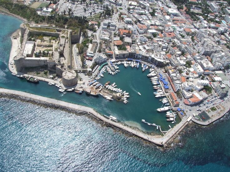 Kyrenia Harbour, taken from the sky,Turkish Republic of Northern Cyprus
