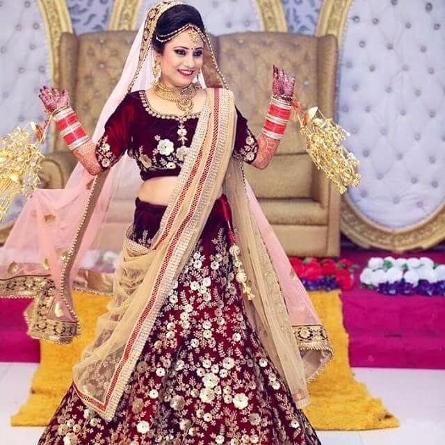 Punjabi Punjabi Bridal Dress Ideas Cute Punjabi Bride -7366