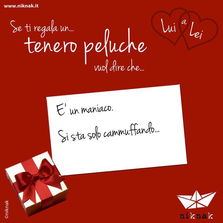 Se a San Valentino lui ti regala un tenero peluche vuol dire che... è un maniaco, si sta solo cammuffando. | Funny gift love