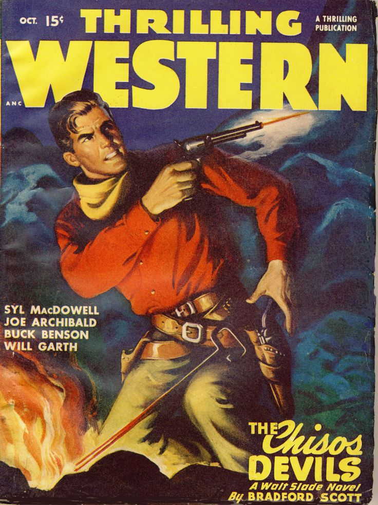 Western Book Cover Art ~ Best vintage western books posters and magazines
