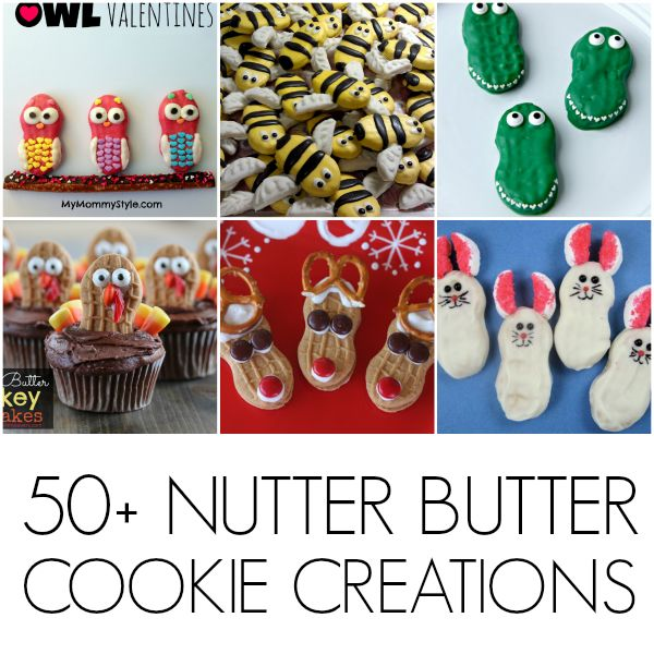 Turn a Nutter Butter cookie into 50+ crazy creations... bikini's, frogs, and ballet slippers!
