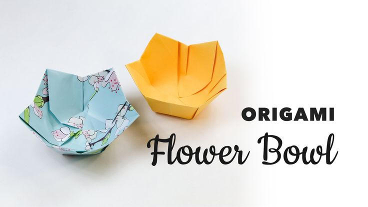 Learn how to make a pretty origami flower shaped bowl or dish, you can customise the base of this bowl, to make it wider at the bottom, this origami dish is ...