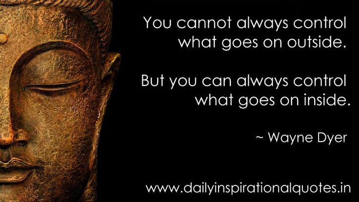 You can control what is going on inside, but it takes practice | Loved and pinned by www.downdogboutique.com