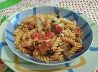 My Ricettarium: Fusilli con funghi, salsiccia di cinghiale, olive ...