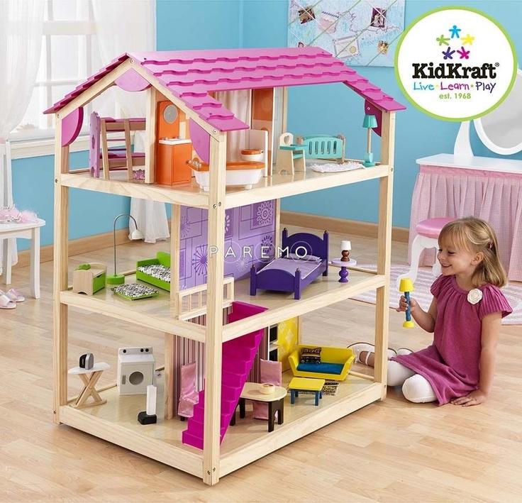 """Кукольный домик для Барби """"Самый роскошный"""", с мебелью 50 элементов KidKraft"""