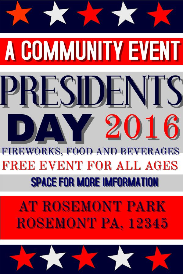 16 best Presidentu0027s Day Poster Templates images on Pinterest - missing posters template