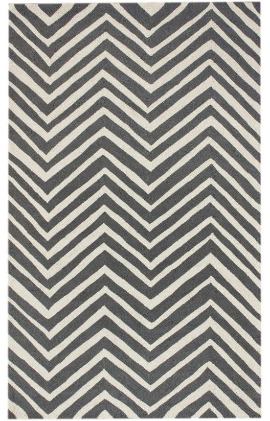 LOVE THIS RUG!- Rugs USA Homespun Chevron Charcoal Rug- great price if you wait for a sale!