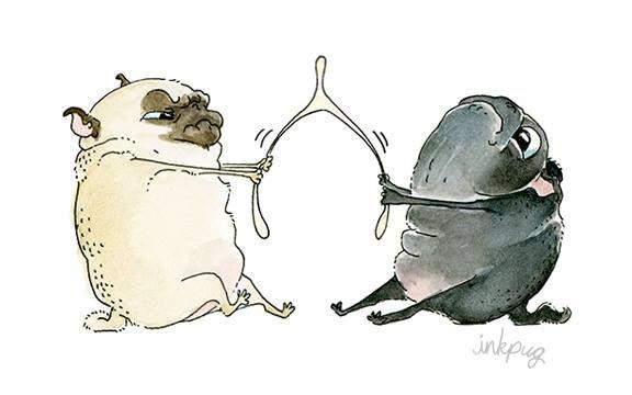 Веселые мопсы от InkPug фото #9