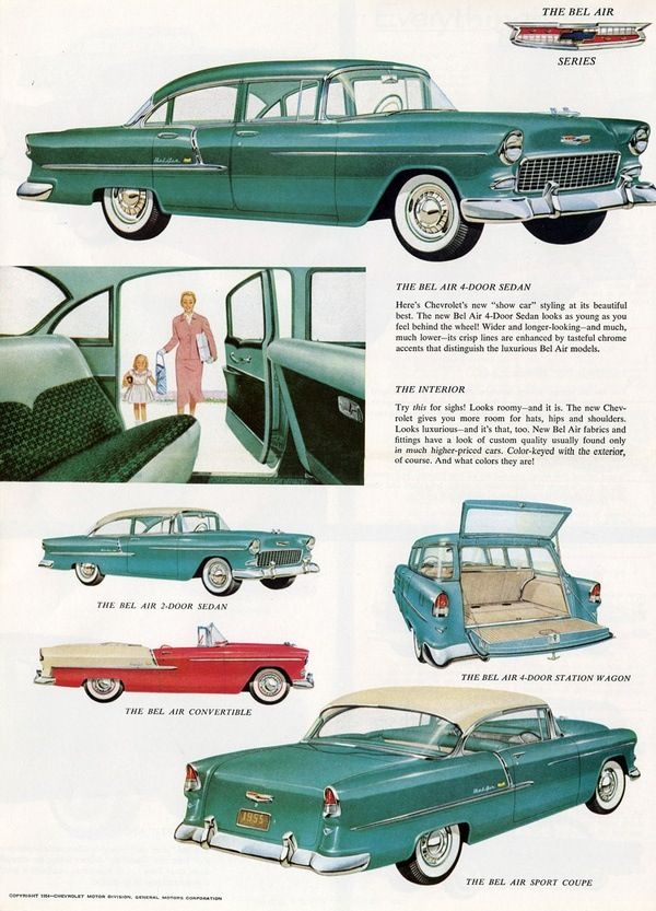 1955 Chevrolet Bel-Air Models. Do you think they knew the REVOLUTION they started with this amazing car?