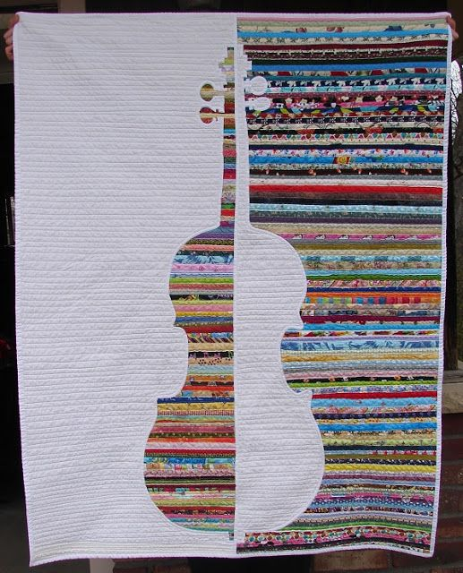 Color & Music: Violin Study - A Four-in-Art Quilt | The Life of Riley…