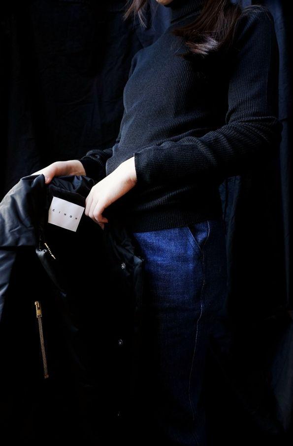 [ CINOH ] PADDING VEST John Smedley ( ENGLAND ) MASSEY RIBBED SWEATER www.lancah.com