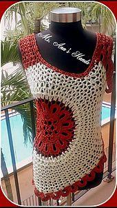 #Crochet Top Pattern. Plus Sizes: XL-4X. PDF, written  Document (w/lots of pics).